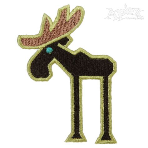 embroidery design moose moose maine embroidery design