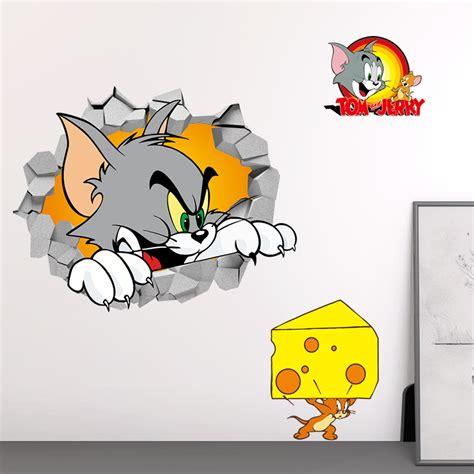 Aufkleber Kinder Deko by 3d Tom Und Jerry Katze Maus Aufkleber Kinder Zimmer Deko