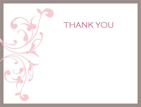 microsoft office word thank you card templates thank you note printable activity shelter