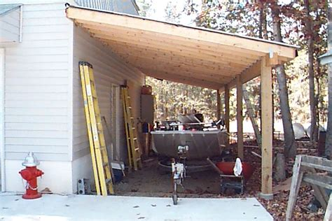 How To Add A Lean To On A Shed by Lean To Garage Plans Free Plans To Build A Bunk