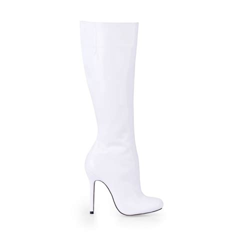 2017 autumn winter fashion white high heels boots