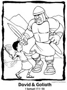 david and goliath coloring page free coloring pages of david versus goliath