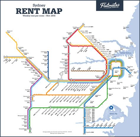 suburbs of map sydney melbourne and brisbane rent maps show differences