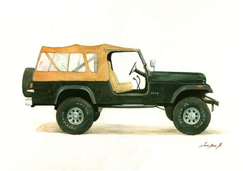 jeep painting canvas jeep cj8 painting by juan bosco