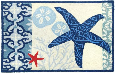Starfish Rug by Italian Tile With Starfish Rug