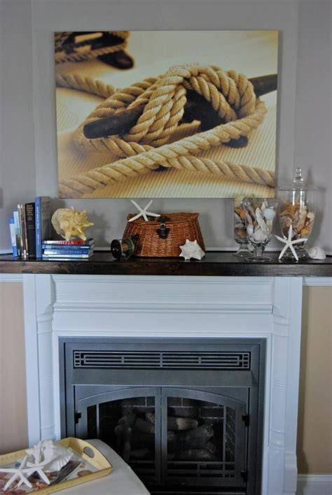 nautical mantel for the home