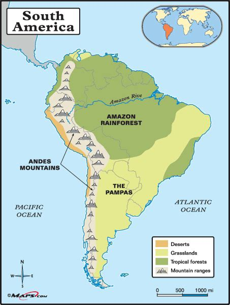 south america map rivers and mountains physical map of south america detailed showing the