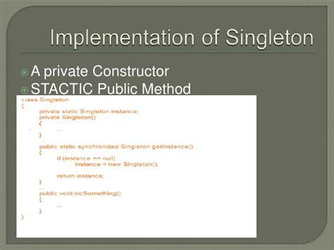 singleton pattern là gì singleton pattern
