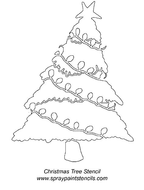 christmas tree 18 in stencil tree stencil free coloring home