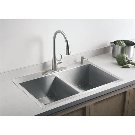 kitchen stainless steel sinks sinks extraordinary kohler double sink kohler double
