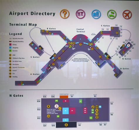 seattle map with airport sea airport map sea terminal map