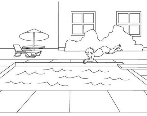 swimming pools colouring pages page 2