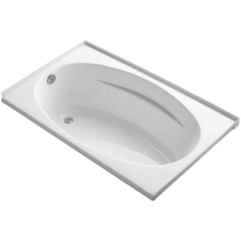 bathtub flange kohler proflex 5 ft left hand drain with flange bathtub