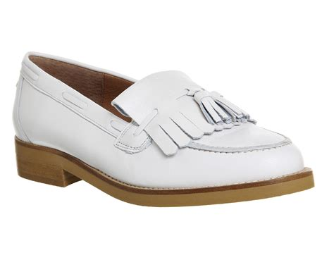 Maharani Loafer Flats Dir Co office extravaganza loafers new white leather flats