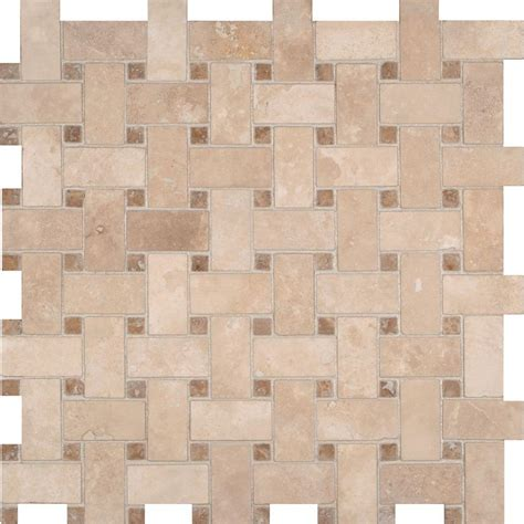 basket weave tile ms international colisseum basketweave 12 in x 12 in x