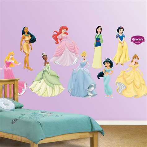 disney princess wall decals lighten your s room using princess wall decals home