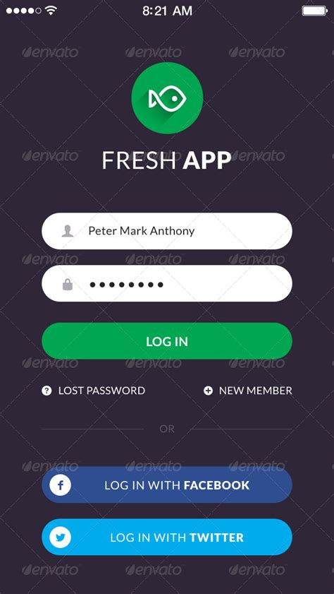 fresh flat mobile ui kit by vuuuds graphicriver