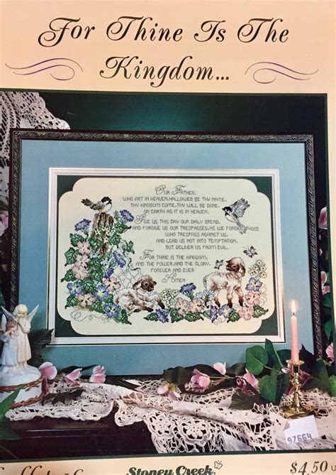 kingdom pattern for prayer stoney creek cross stitch book 36 thine is the kingdom