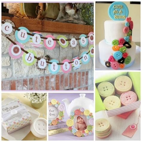 As A Button Baby Shower Ideas by As A Button Baby Shower Inspiration Board