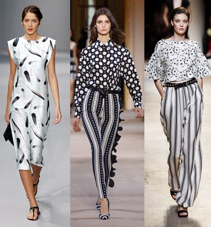 geometric pattern fashion trend spring 2014 the black and white trend ladylux online