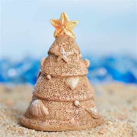 miniature beach sand christmas tree christmas trees and