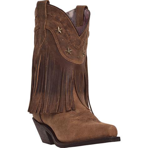dingo womens goat leather hang low 9 quot fringe cowboy boots