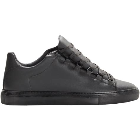 mens balenciaga arena sneakers balenciaga coated arena low top sneakers black size 9 in