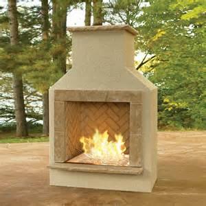 san juan outdoor gas fireplace with mocha