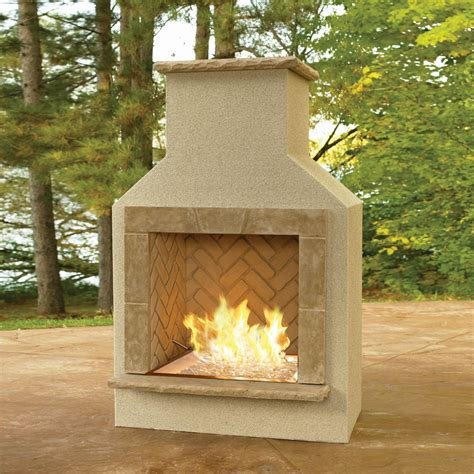 san juan outdoor gas fireplace with mocha