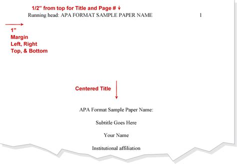 Apa Title Page Format For Research Paper by Title Apa Format Cover Page Apa Apa Format Exle And Apa Style