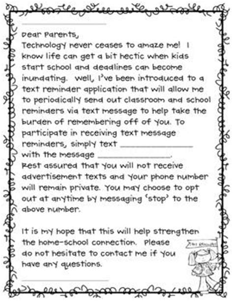 Character Day Letter To Parents An Informational Parent Letter To Create A New Avenue For Parent Communication Using The