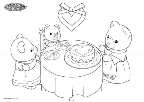 calico critters coloring pages free coloring pages of sylvanian families