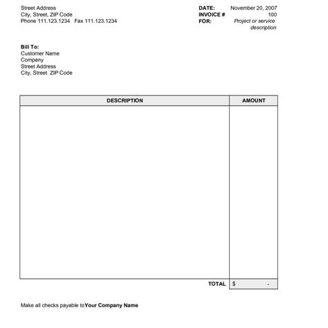 simple invoice template for mac free invoice templates for mac fern spreadsheet