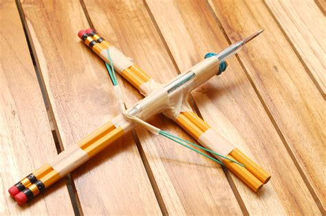 How To Make A Crossbow Out Of Paper - how to make a small crossbow out of household items 12 steps