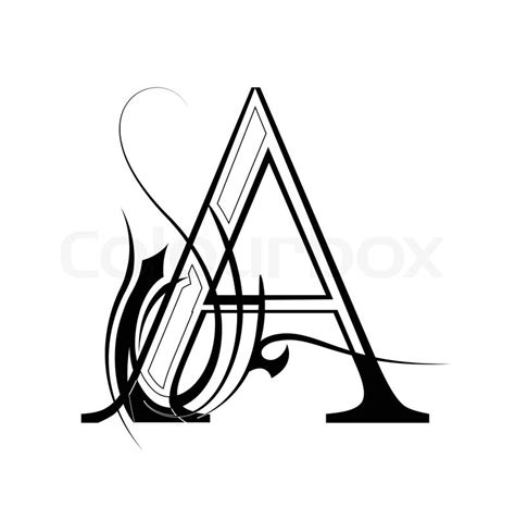 A Letter From Musically a letter font vector vektorgrafik colourbox