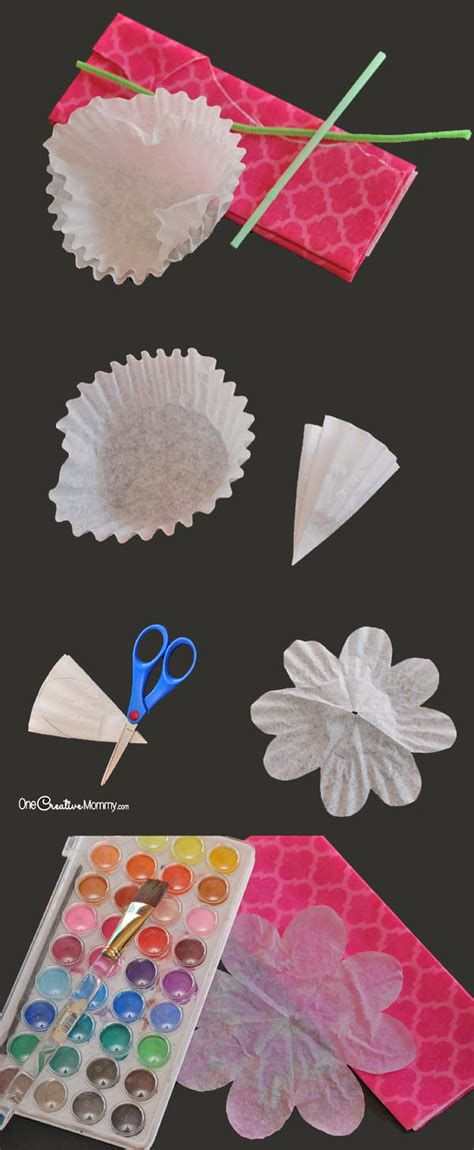Steps For Paper Flowers - gorgeous coffee filter flowers tutorial onecreativemommy