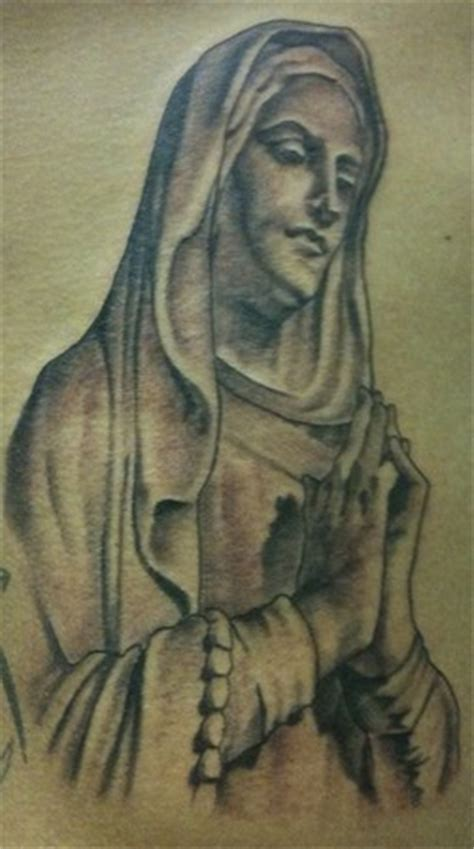 virgin mary tattoo black and grey document moved