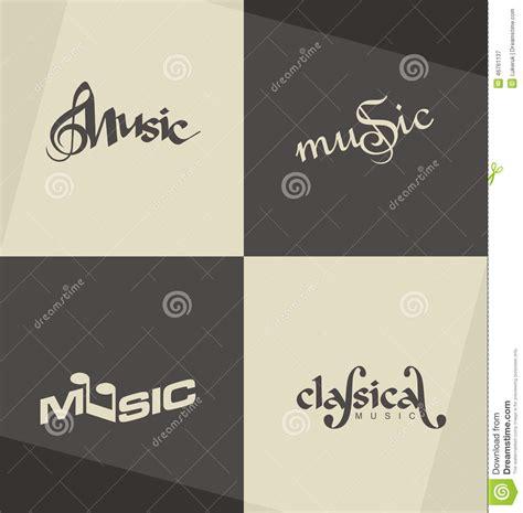 minimalist design banner unique and minimalistic classical music logo design
