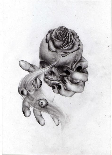 fetal skull rose by liliana08 on deviantart