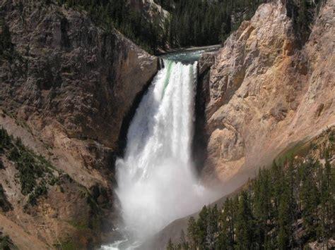 yellowstone lower falls waterfall in yellowstone lower yellowstone falls