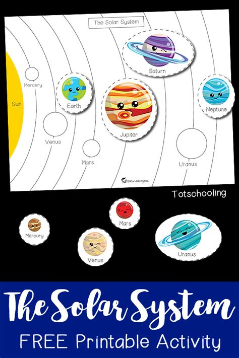 printable worksheets solar system kindergarten the solar system printable activity totschooling
