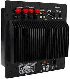 subwoofer plate amplifier   rms home theater