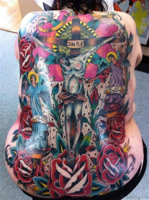 traditional back tattoos 54 graceful religious tattoos on back