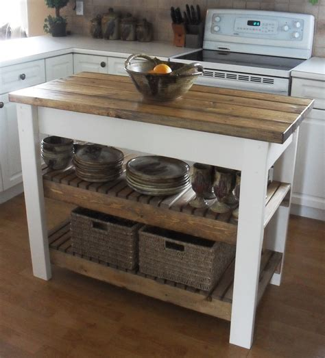 Diy Kitchen Island Table White Kitchen Island Diy Projects