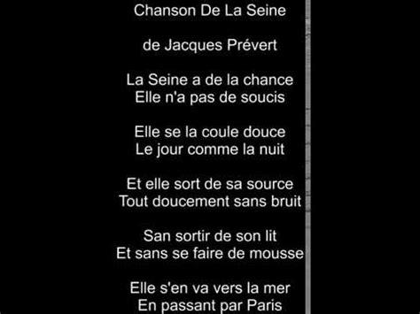 vincenzo letta chanson de la seine de jacques pr 233 vert letta da