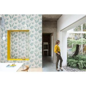 jungle leaf floral teal and white wallpaper r4672 ac18545