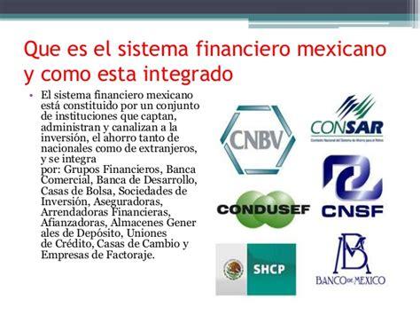 sistema financiero mexicano youtube funciones de las instituciones que integran el sistema
