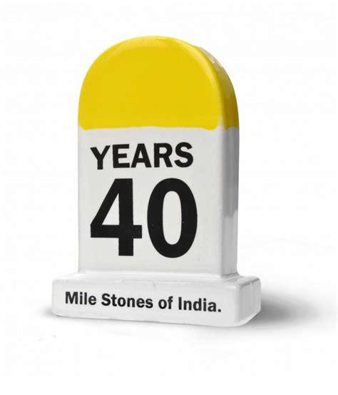 Home Decor Showpieces happily unmarried multicolour ceramic 40 years milestone
