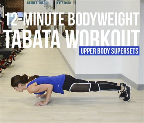 minute bodyweight tabata workout series upper body