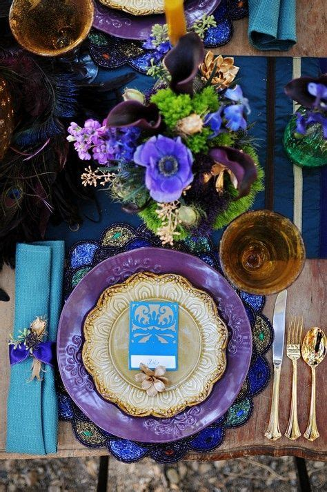 beautiful table settings green and brown 5 cobalt blue color palettes for your wedding day
